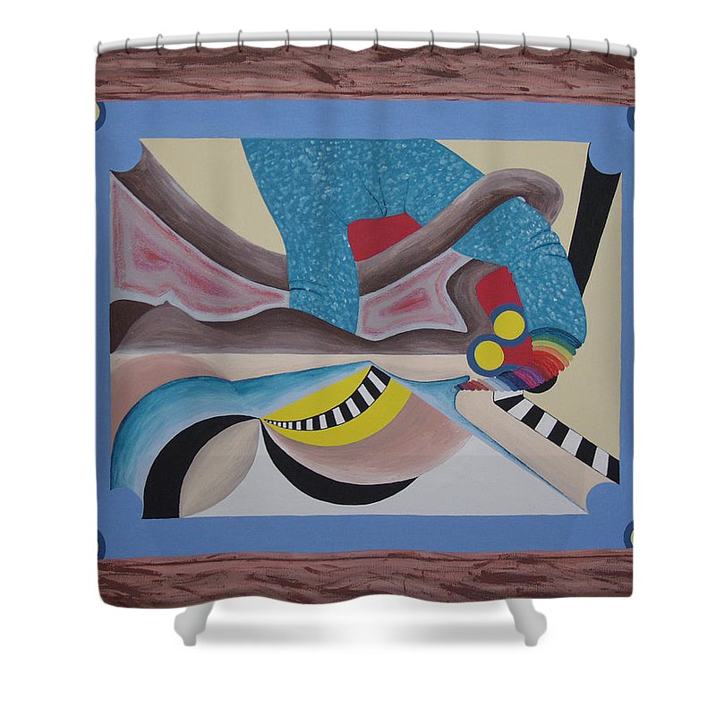 Expressionism Shower Curtain featuring the painting Irreconcilable Differences by Dean Stephens