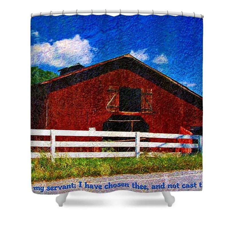 Jesus Shower Curtain featuring the digital art Isaiah 41 9 by Michelle Greene Wheeler