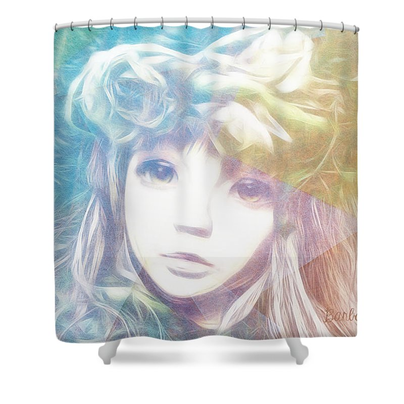 Girl Shower Curtain featuring the digital art Isangelle Clariscendre by Barbara Orenya