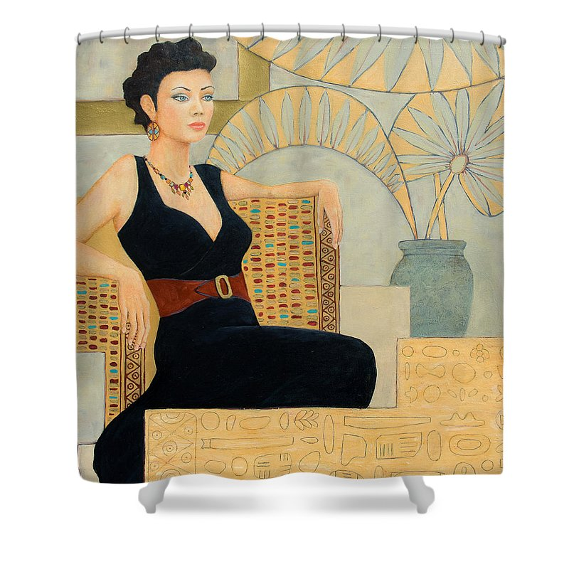 Fantasy Shower Curtain featuring the painting Isis by Don Perino