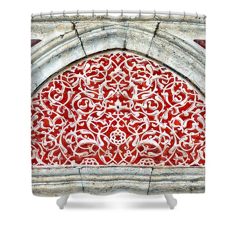 Art Shower Curtain featuring the photograph Islamic Art 04 by Antony McAulay