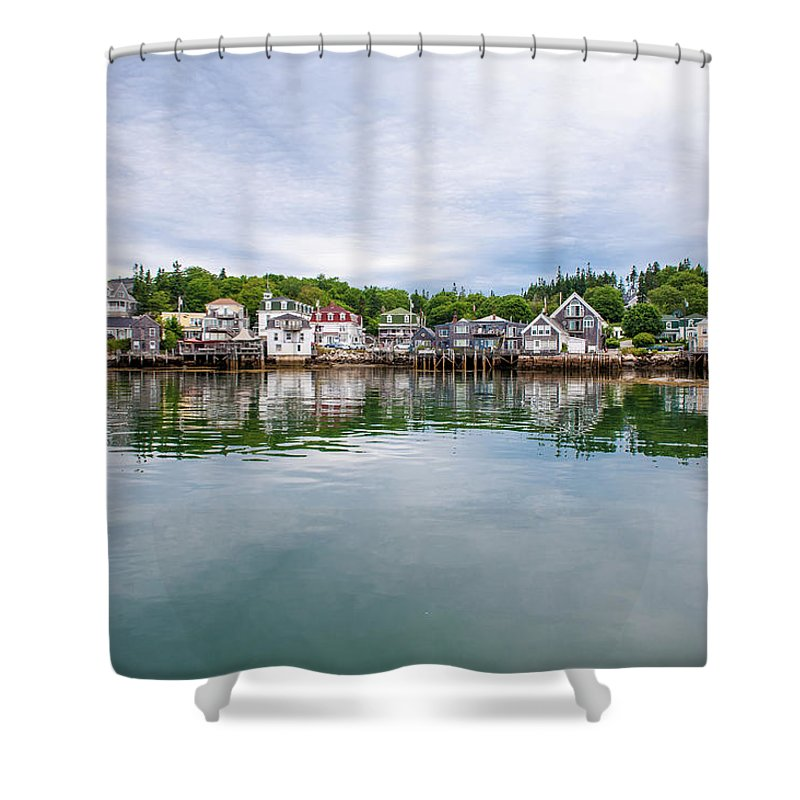 Town Shower Curtain featuring the photograph Island Village by Edwin Remsberg