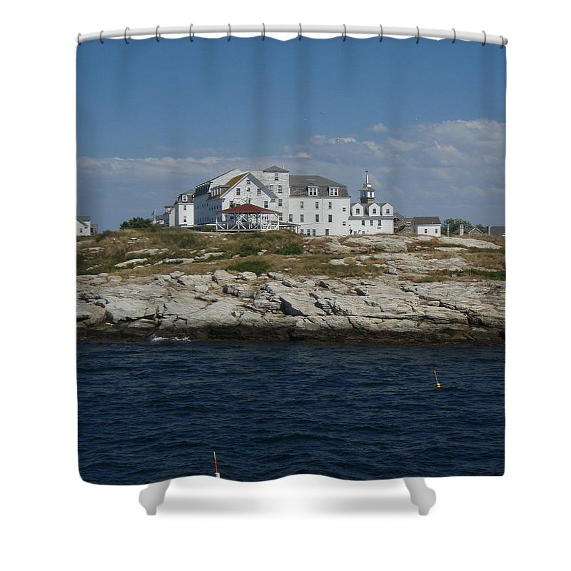 Isle Of Shoals Shower Curtain featuring the photograph Isles Of Shoals 2 by Robert Nickologianis