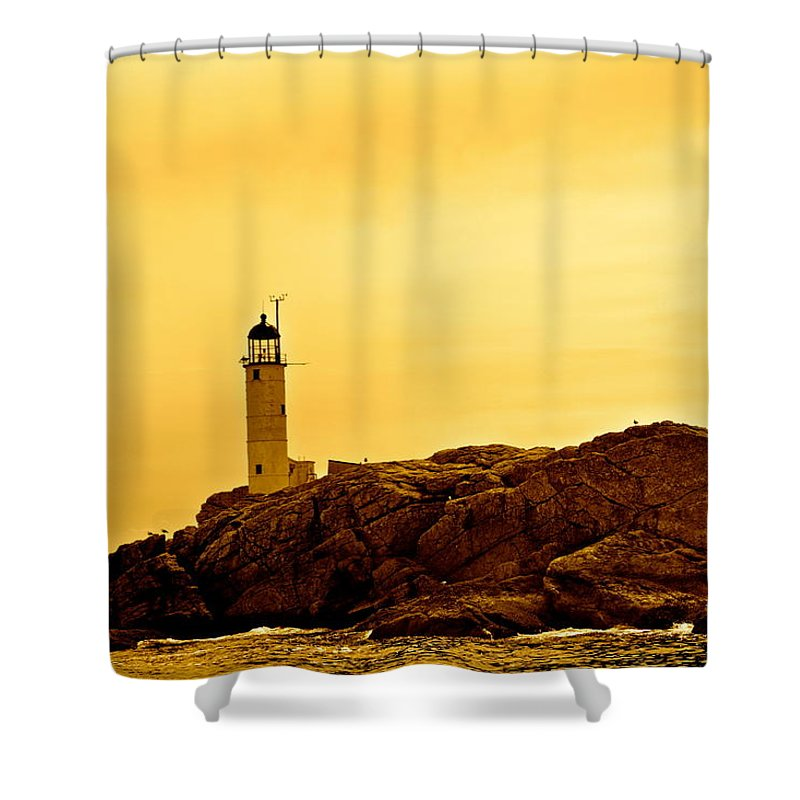 Isles Of Shoals Shower Curtain featuring the photograph Isles Of Shoals by Mark Prescott Crannell