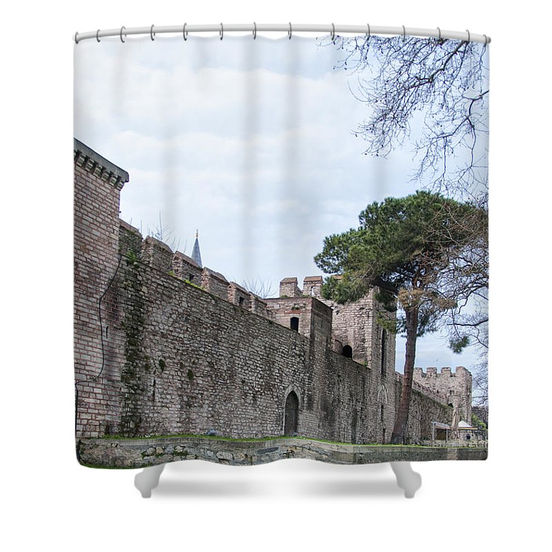 Turkey Shower Curtain featuring the photograph Istanbul City Wall 03 by Antony McAulay