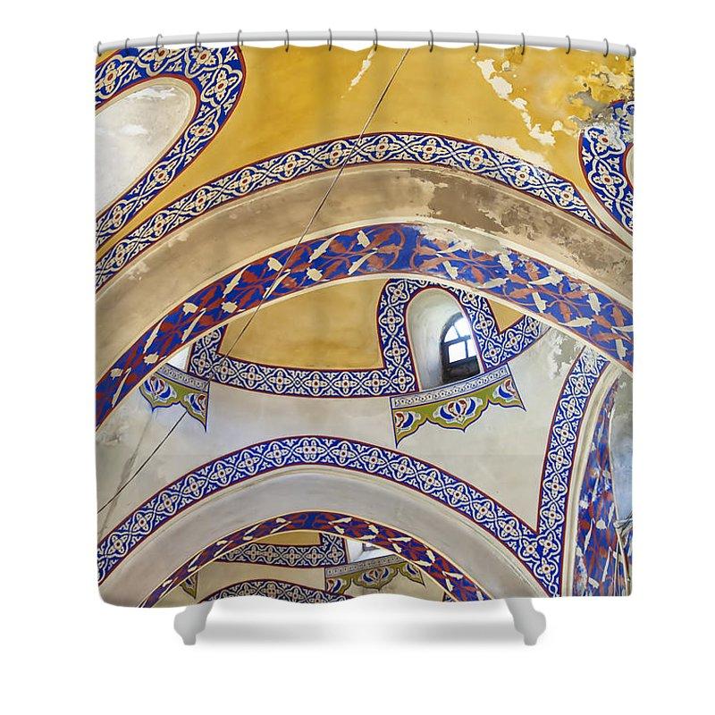 Turkey Shower Curtain featuring the photograph Istanbul Grand Bazaar Interior by Antony McAulay