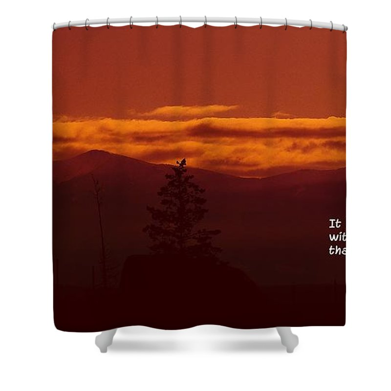Silhouettes Shower Curtain featuring the photograph It Is Better by Jeff Swan