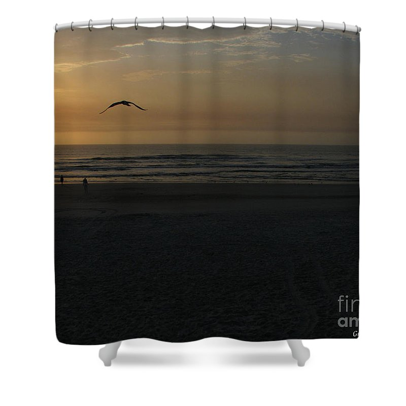 Florida Sunrise Shower Curtain featuring the photograph It Starts by Greg Patzer