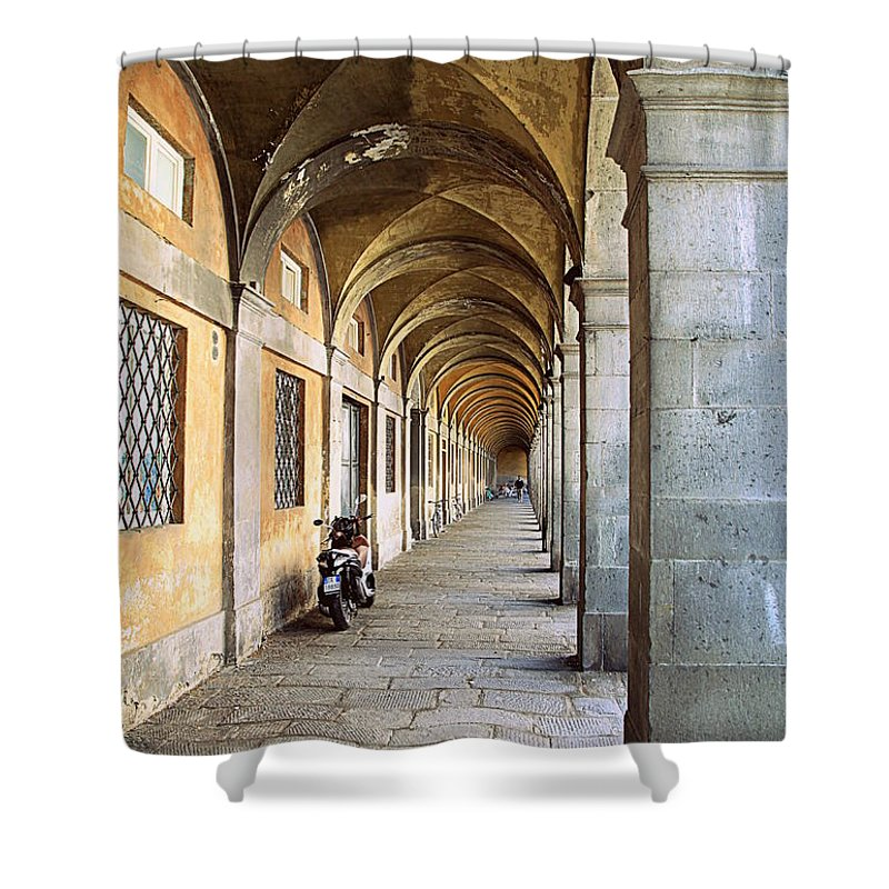 Italy Shower Curtain featuring the photograph Italian Living by Valentino Visentini