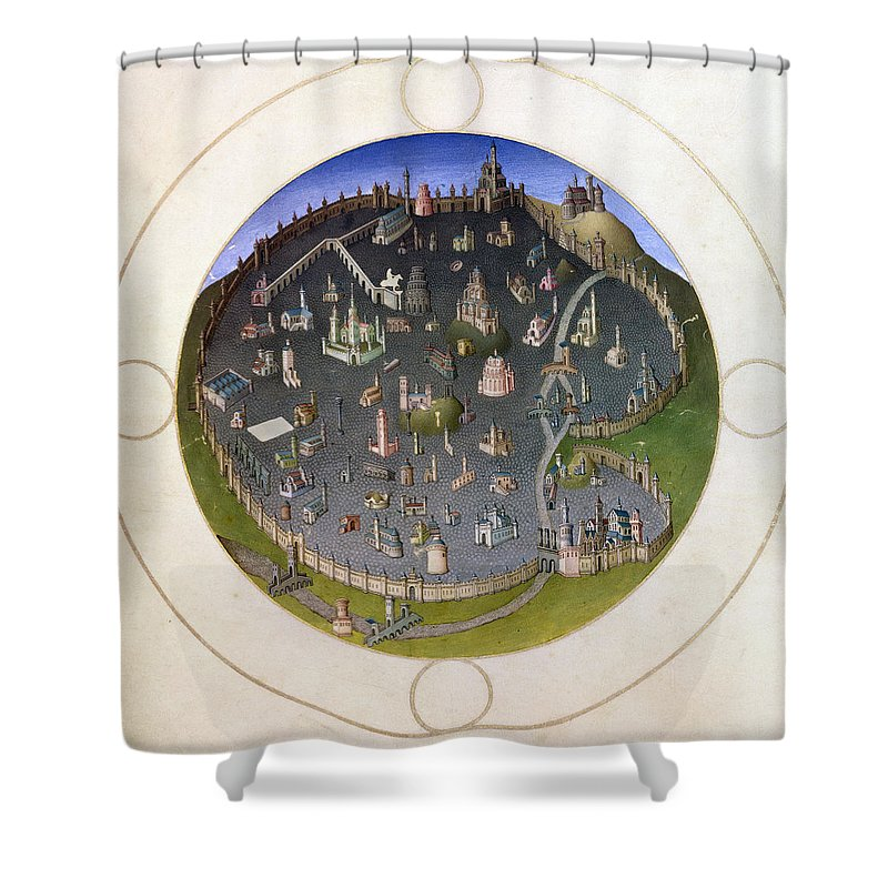15th Century Shower Curtain featuring the photograph Italy: Rome, 15th Century by Granger