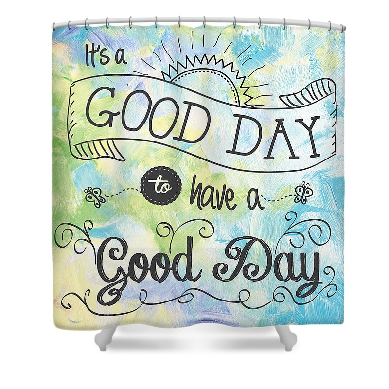 Vintage Shower Curtain featuring the digital art It's A Colorful Good Day By Jan Marvin by Jan Marvin