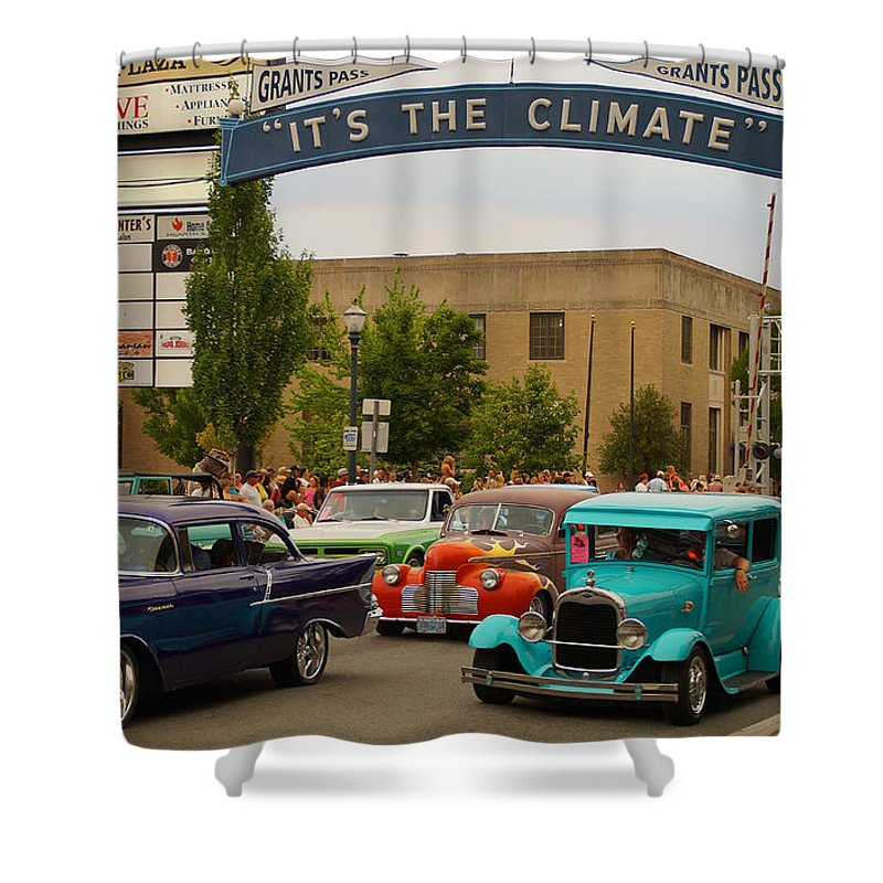 Its The Climate Shower Curtain featuring the photograph Its The Climate For A Cruise by Mick Anderson