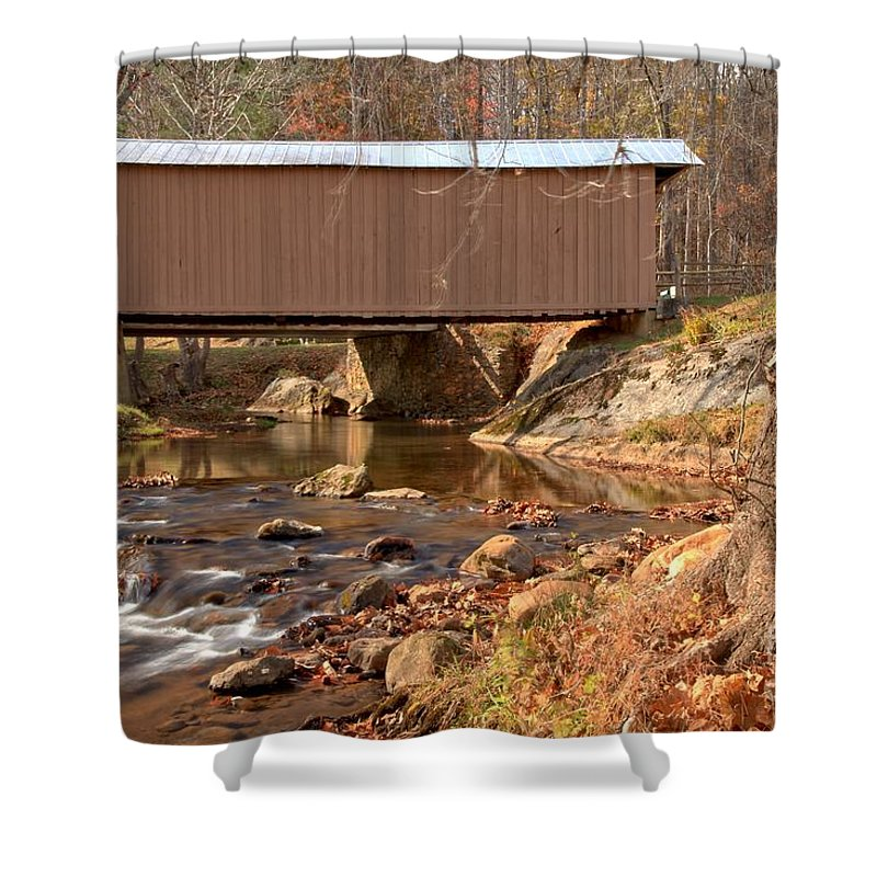 Smith River Shower Curtain featuring the photograph Jacks Creek Bridge Over Smith River by Adam Jewell