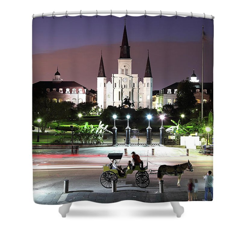 Southern Usa Shower Curtain featuring the photograph Jackson Square by Denistangneyjr