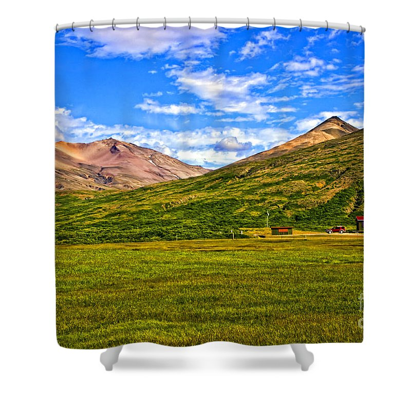 Landscape Shower Curtain featuring the photograph Jagged Peaks by Roberta Bragan