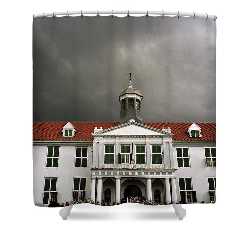 Jakarta Shower Curtain featuring the photograph Jakarta Town Hall by Shaun Higson