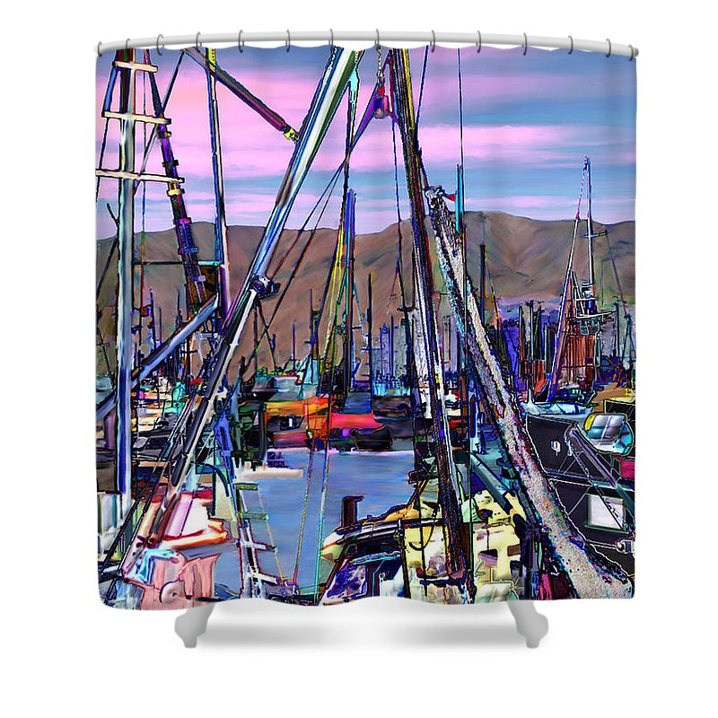 Harbors Shower Curtain featuring the photograph Jammin At Twilight by Kurt Van Wagner
