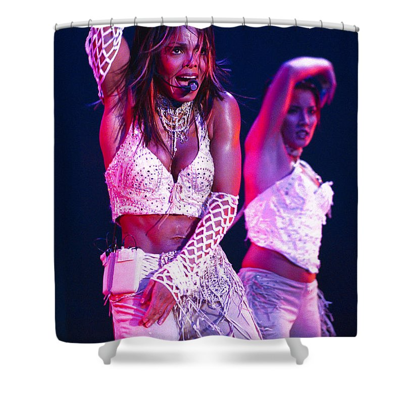 Janet Jackson Shower Curtain featuring the photograph Janet Jackson-05 by Timothy Bischoff