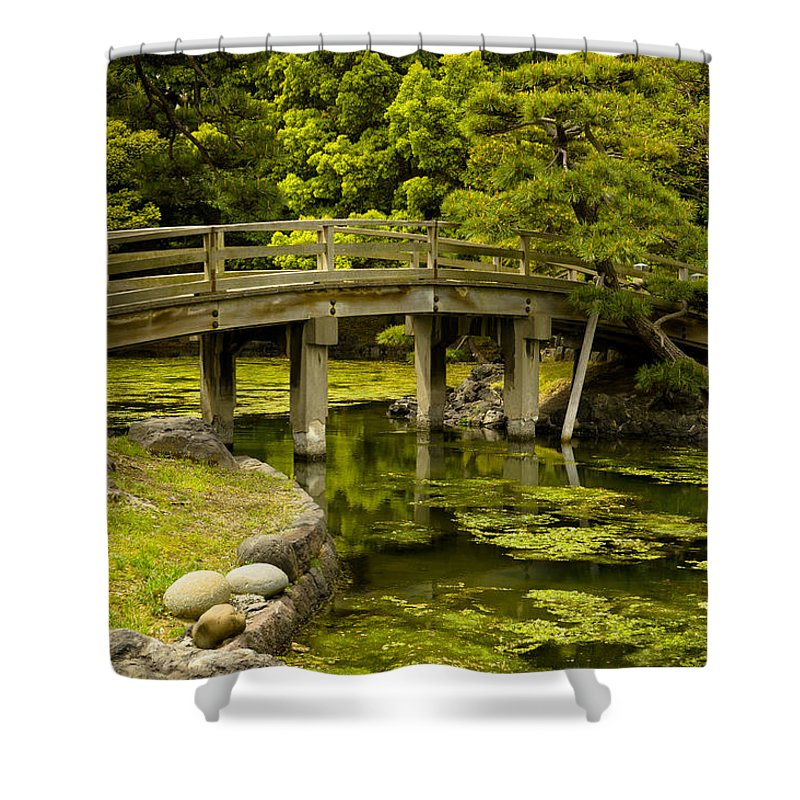 Japan Shower Curtain featuring the photograph Japanese Garden Tokyo by Sebastian Musial