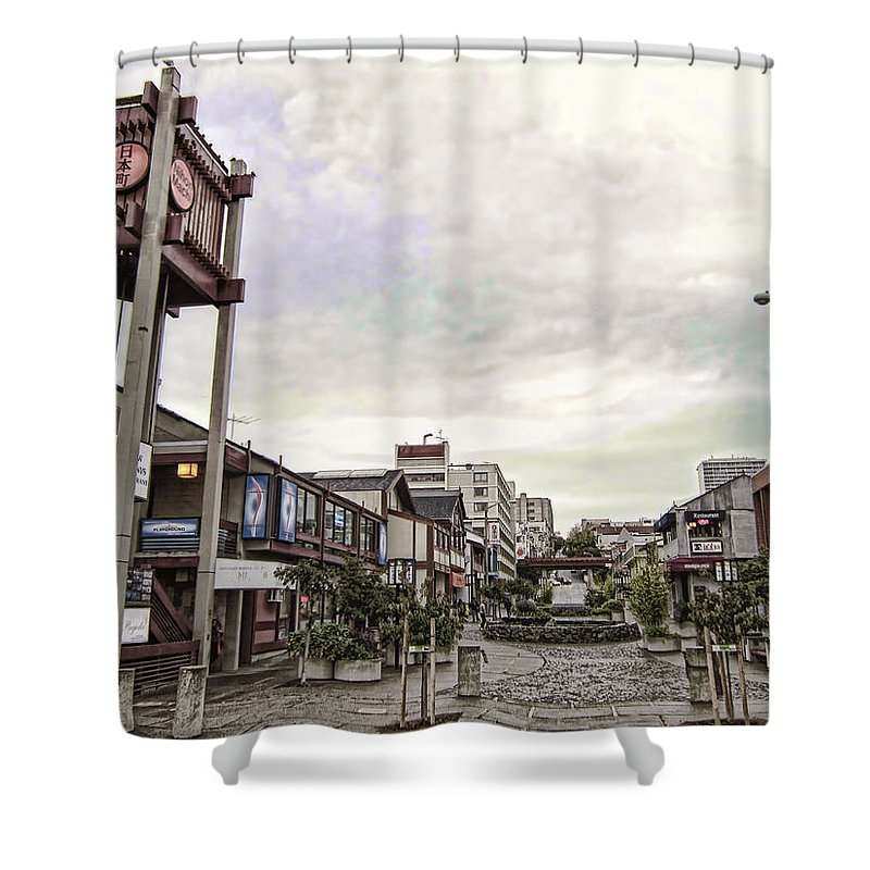 Japan Town Shower Curtain Featuring The Photograph Japantown