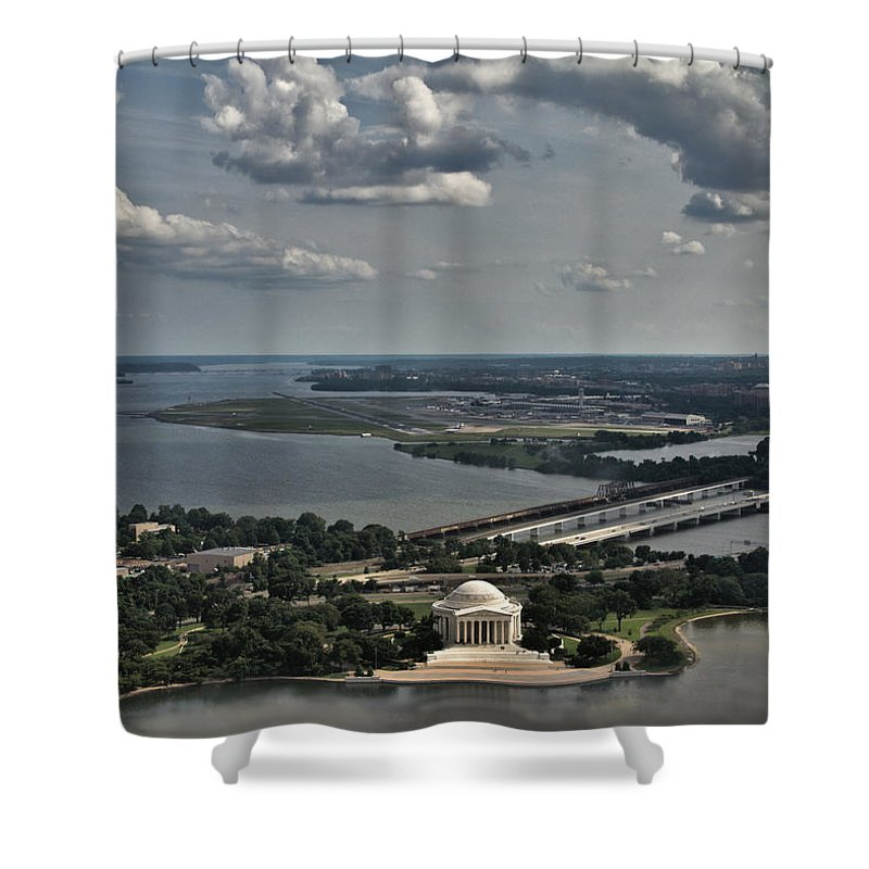 Jefferson Memorial And The Potomac Shower Curtain featuring the photograph Jefferson Memorial And The Potomac by Jemmy Archer