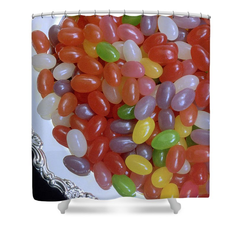 Jelly Beans Shower Curtain featuring the photograph Jelly Beans by Jerry McElroy