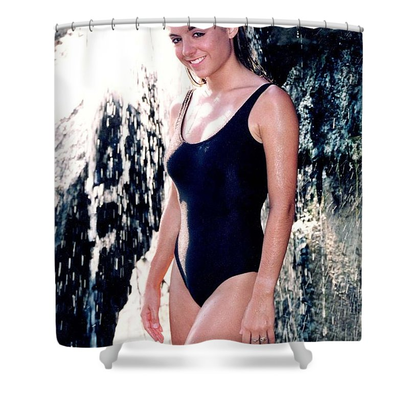 Model Shower Curtain featuring the photograph Jenny 1 Piece by Gary Gingrich Galleries