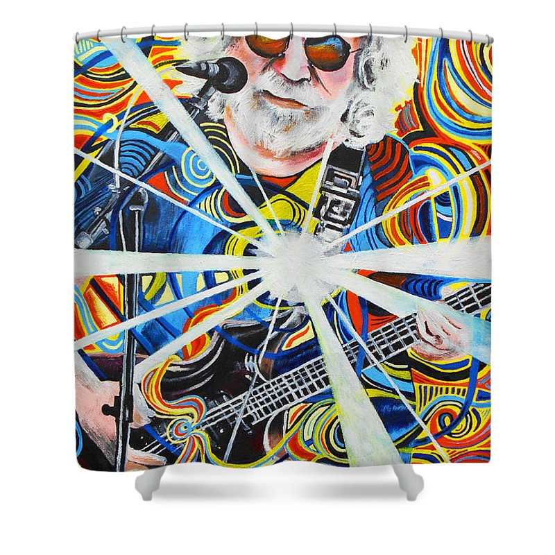 The Grateful Dead Shower Curtain featuring the painting Jerome 11 by Kevin J Cooper Artwork