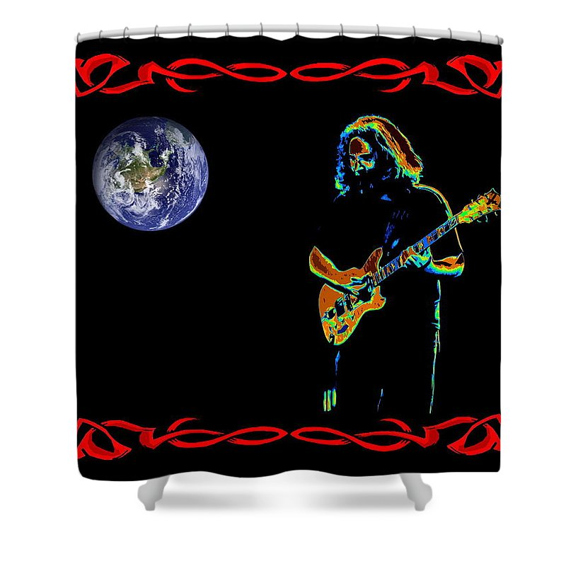Jerry Garcia Shower Curtain featuring the photograph Jerry In Space by Ben Upham