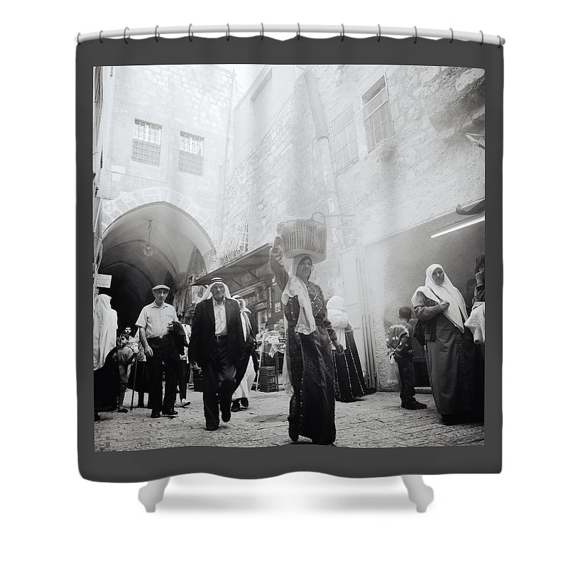 Jerusalem Shower Curtain featuring the photograph Old City Of Jerusalem by Shaun Higson