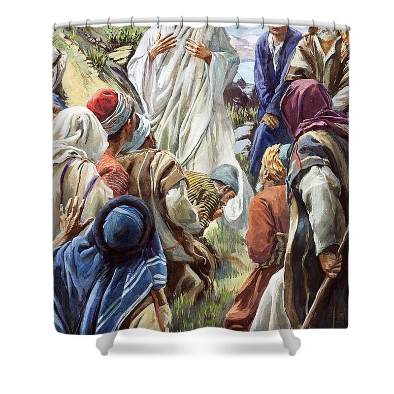 Son Of God Shower Curtain Featuring The Painting Jesus By Harold Copping