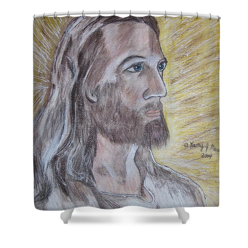 Jesus Shower Curtain featuring the painting Jesus by Kathy Marrs Chandler