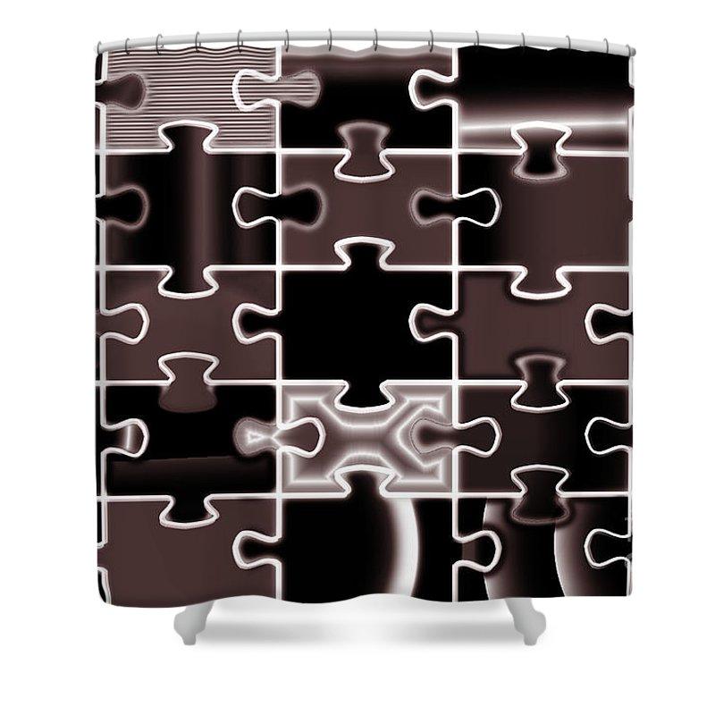 Digital Art Shower Curtain featuring the photograph Jig Saws by Luc Van de Steeg