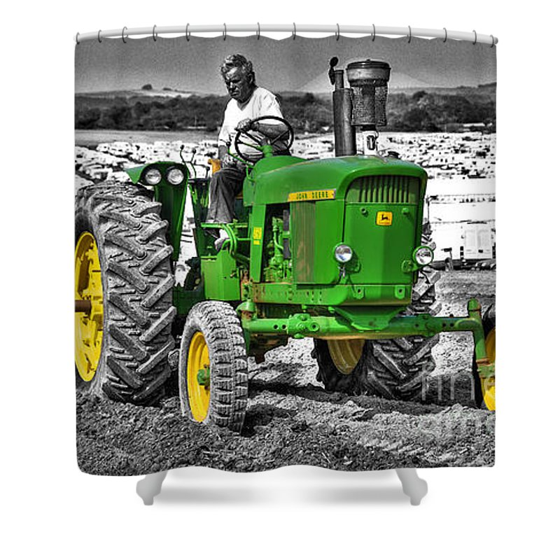 John Shower Curtain featuring the photograph John Deere 4020 by Rob Hawkins