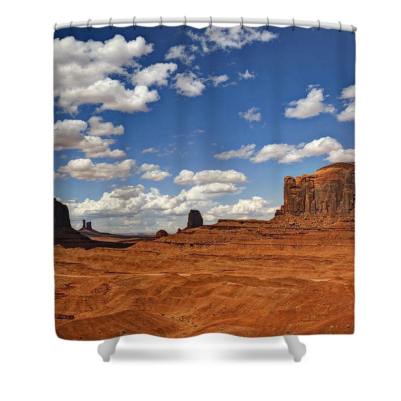 Monument Valley Shower Curtain featuring the photograph John Ford Point - Monument Valley by Saija Lehtonen