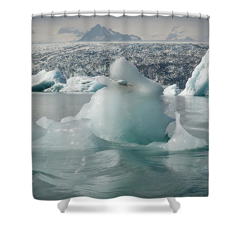 Tranquility Shower Curtain featuring the photograph Jokularsson Glacier Lagoon by Jamie Gordon