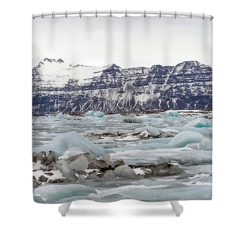 Tranquility Shower Curtain featuring the photograph Jokulsarlon by Photo By Dave Moore