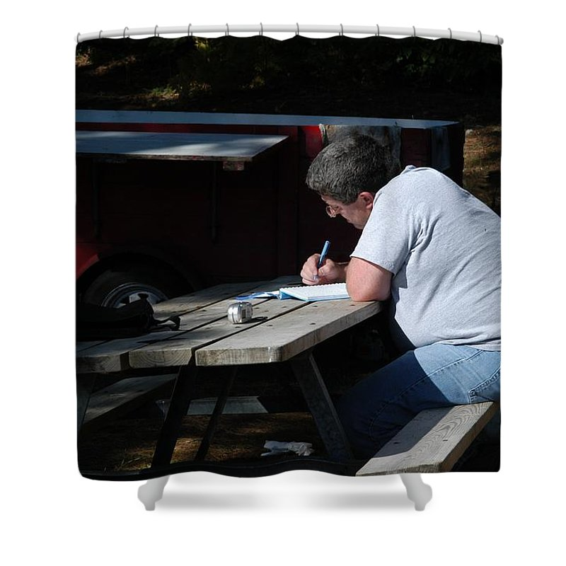 Brother Shower Curtain featuring the photograph Journal by Joseph Yarbrough