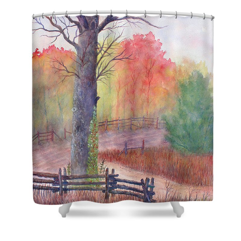 Fall Shower Curtain featuring the painting Joy of Fall by Ben Kiger