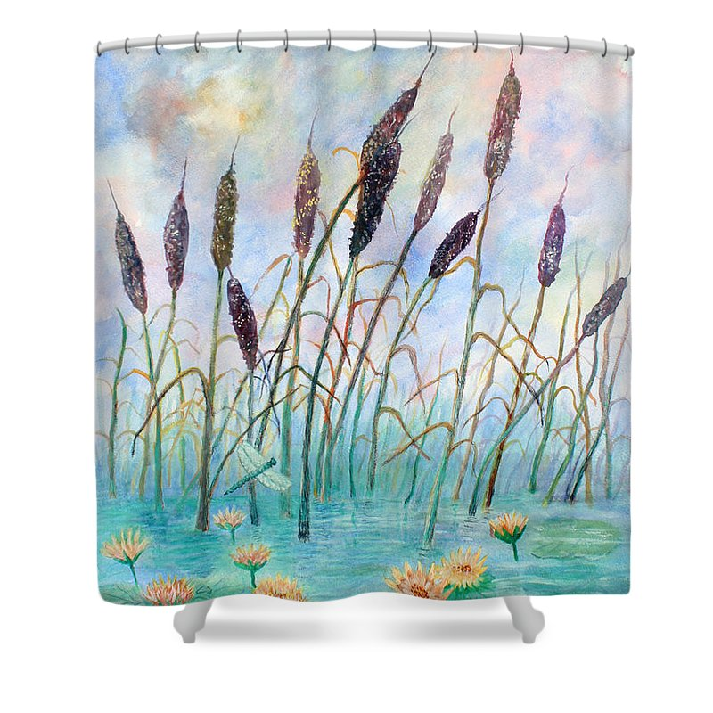 Pond Shower Curtain featuring the painting Joy Of Summer by Ben Kiger