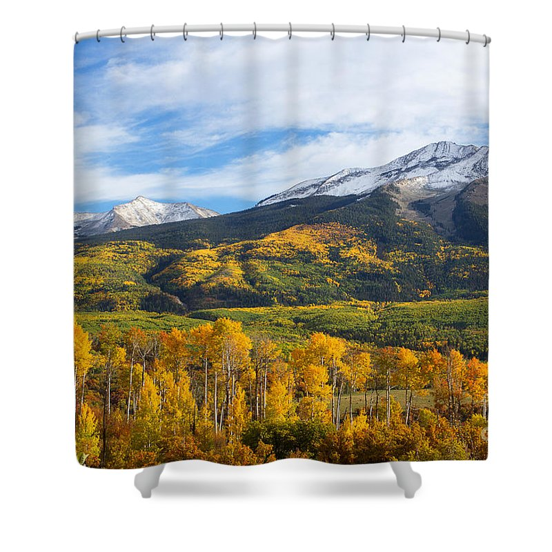 Autumn Colors Shower Curtain featuring the photograph Jubilee by Jim Garrison