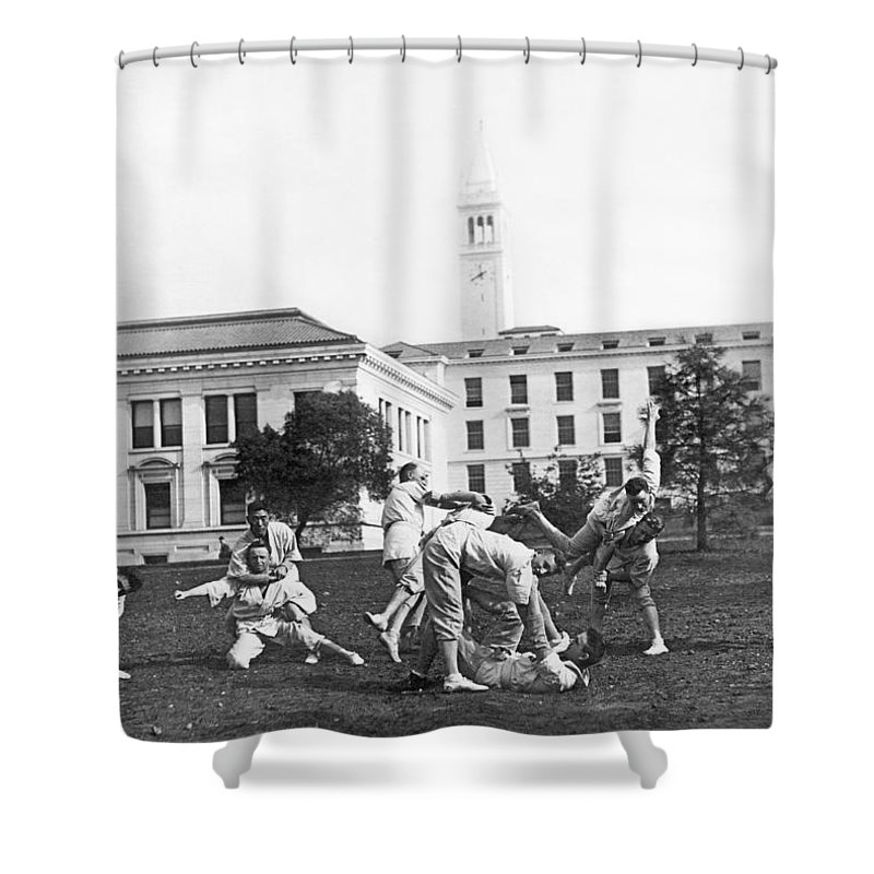 1890s Shower Curtain featuring the photograph Judo At Uc Berkeley by Underwood Archives