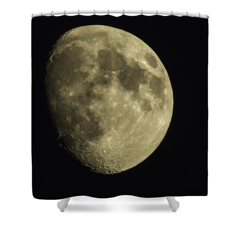 Moon Shower Curtain featuring the photograph Julie's Moon by Thomas Young