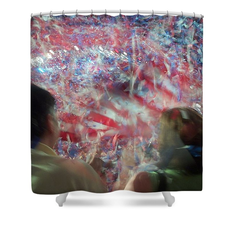 july Fourth Shower Curtain featuring the photograph July Fourth Finale by Barbara McDevitt