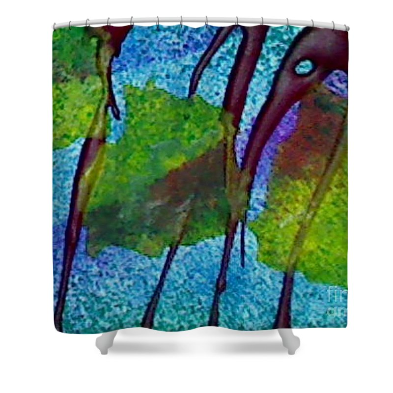 Jungle Shower Curtain featuring the painting Jungle 1 by Mark Herman