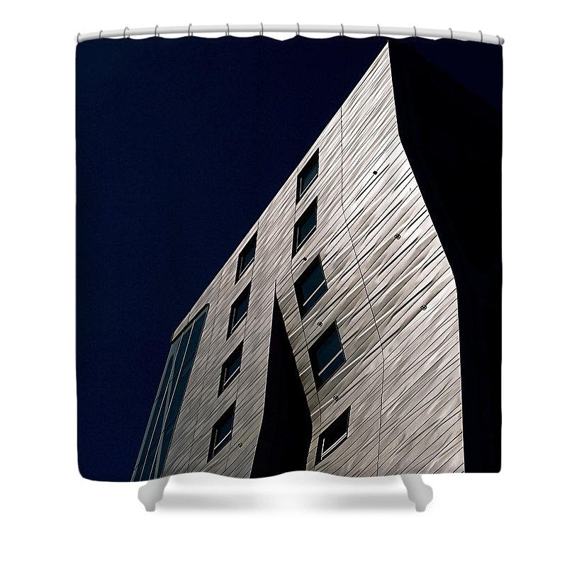 New York City Shower Curtain featuring the photograph Just A Facade by Rona Black