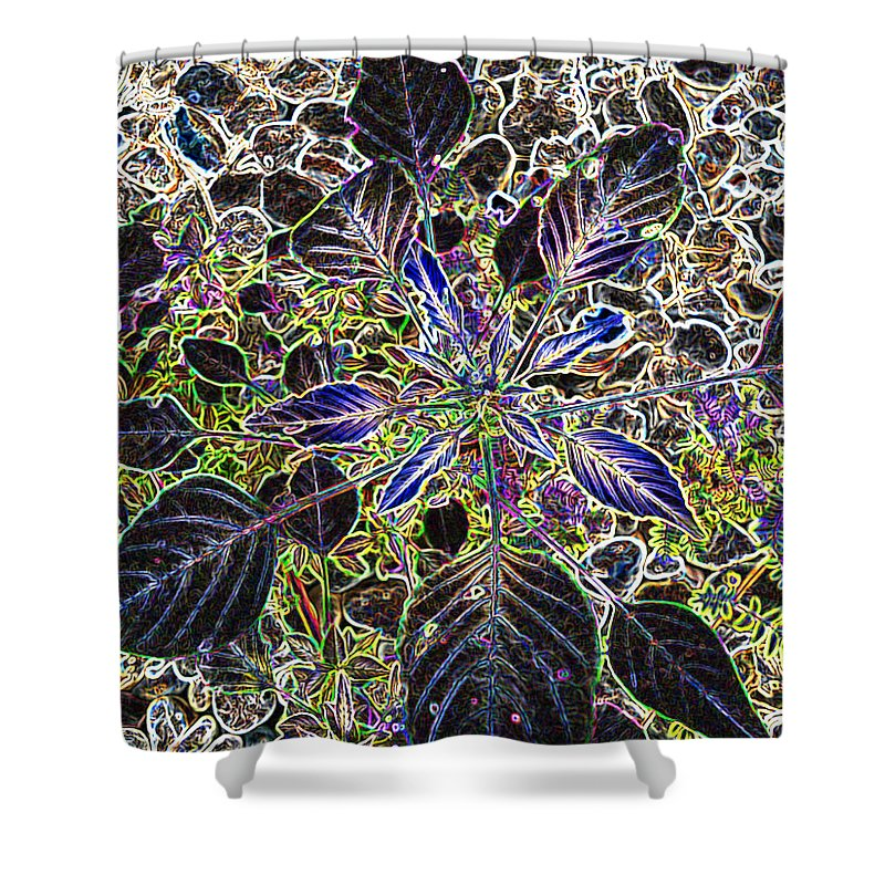 Weed Shower Curtain featuring the digital art Just A Weed by Lovina Wright