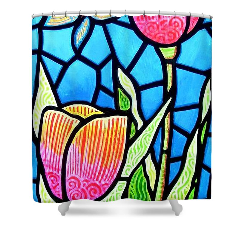 Butterflies Shower Curtain featuring the painting Just Visiting by Jim Harris