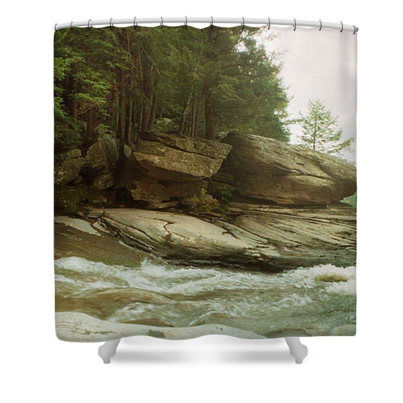 Photography Shower Curtain featuring the photograph Kaaterskill Falls In Autumn, Catskill by Panoramic Images