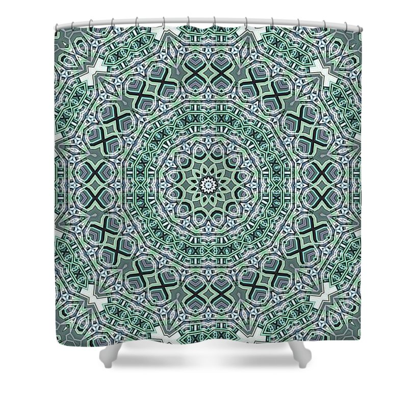 Kaleidoscope Shower Curtain featuring the digital art Kaleidoscope 31 by Ron Bissett